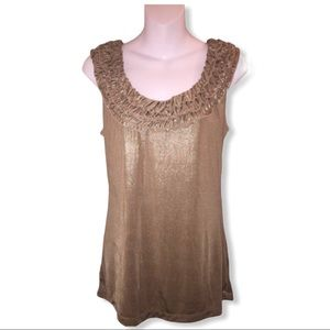 New York and Company Antique gold top